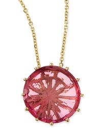 KALAN by Suzanne Kalan - 12mm Round Pink Topaz Pendant Necklace - Lyst
