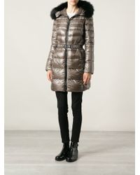 Herno Belted Padded Coat - Lyst