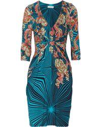 Matthew Williamson Winter Garden Printed Stretch Jersey Dress - Lyst