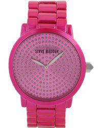 Steve Madden | Women's Pink Bracelet Watch 44mm Smw00054-09 | Lyst