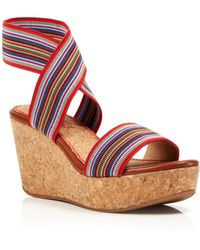 Splendid Open Toe Platform Wedge Sandals - Geena - Lyst