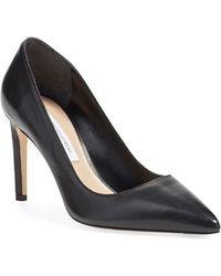 Diane von Furstenberg | Londo Pebbled Leather Pumps | Lyst