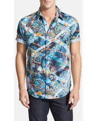 Robert Graham 'Fair Wind' Classic Fit Short Sleeve Sport Shirt - Lyst