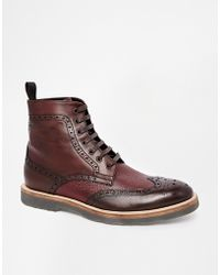 Rolando Sturlini Brogue Boots - Lyst