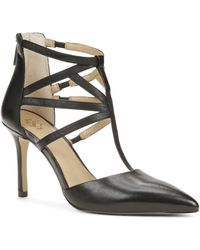 Ann Taylor Elliana Strappy Leather Heels - Lyst