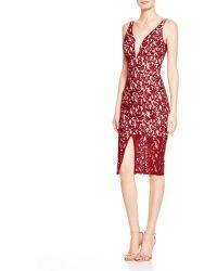 Bardot Deep V Lace Dress