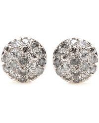 Roberto Marroni | 18kt Rhodium-plated White Gold Baby Sand Diamond-encrusted Earrings | Lyst