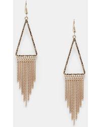 Lipsy   Chain Fringe Drop Earrings   Lyst