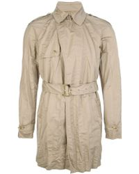 Ermanno Scervino Belted Trench Coat - Lyst