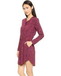 Splendid West Village Leopard Shirtdress - Aubergine - Lyst
