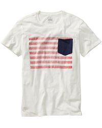 Gap Us Flag Patch Pocket Tshirt - Lyst