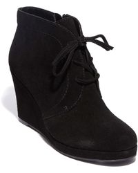 DV by Dolce Vita - Pace Suede Wedge Booties - Lyst