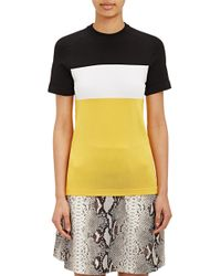 Carven Colorblock Compact Knit T-Shirt - Lyst