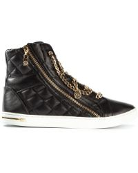 Michael by Michael Kors Chain Fastening Hitop Sneakers - Lyst