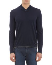 Armani High Vneck Pullover Sweater - Lyst