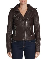 Bagatelle Faux Leather Buckletrim Moto Jacket - Lyst