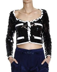 Moschino Bicolor Sequined Jacket - Lyst