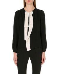 Marc Jacobs Necktie Silk Blouse Black - Lyst