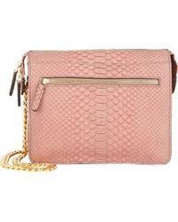 Zagliani Python Liberty Shoulder Bag pink - Lyst