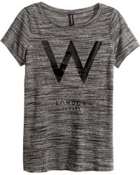 H&M Jersey Top With A Print - Lyst