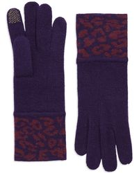 Portolano Purple Patterned Gloves - Lyst