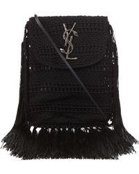 Saint Laurent - Anita Serpent Monogram Crochet Cross-Body Bag - Lyst