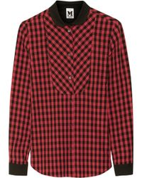 M Missoni Checked Cotton Shirt - Lyst
