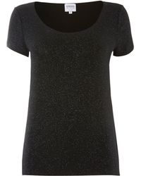 Armani Cap Sleeve Sparkle Top - Lyst