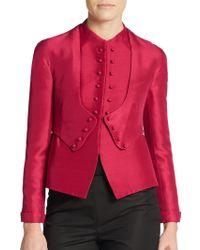 Valentino Silk Shantung Jacket - Lyst