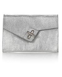 Ela - Milck Mini Metallic Clutch - Lyst