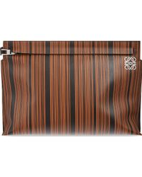 Loewe Large Striped Pouch - Lyst