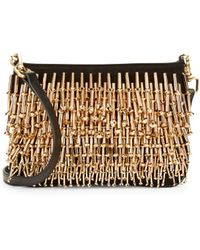 B Brian Atwood | Jagger Embellished Leather Clutch | Lyst