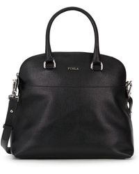 Furla Victoria Saffiano Leather Dome Tote Bag - Lyst