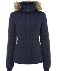 Kenneth Cole - Padded Coat With Fur Line Hood - Lyst