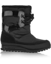adidas Originals - Snowrush Shell, Patent-leather And Suede Snow Boots - Lyst