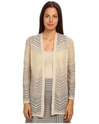 M Missoni Lurex Scallop Knit Cardigan - Lyst