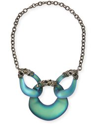 Alexis Bittar Embellished Lucite Lace Link Necklace - Lyst