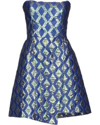 Mauro Grifoni Blue Short Dress - Lyst