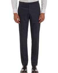 Band Of Outsiders Horizontal Chalk-stripe Trousers - Lyst