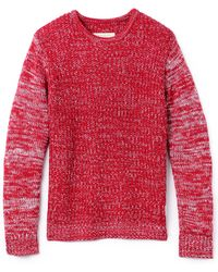 Native Youth - Contrast Sleeve Marled Knit Jumper - Lyst