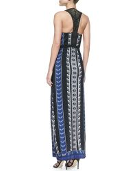 Twelfth Street by Cynthia Vincent Leather Racerback Maxi Dress - Lyst