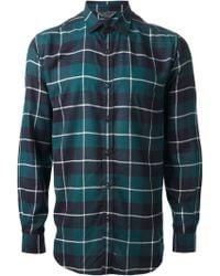 Diesel B Plaid Shirt - Lyst