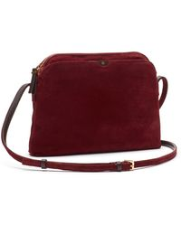 The Row Multi-pouch Suede Crossbody Bag - Lyst