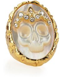 Alexis Bittar Gilded Muse Dore Skull Cameo Ring - Lyst