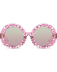 Matthew Williamson Oversized Round Mirror Sunglasses - For Women pink - Lyst
