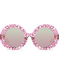 Matthew Williamson Oversized Round Mirror Sunglasses - For Women pink - Lyst
