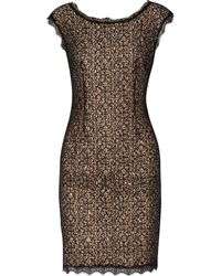 Halston Heritage Embellished Lace Mini Dress - Lyst