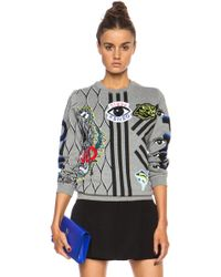 Kenzo Multi Icon Sweatshirt gray - Lyst