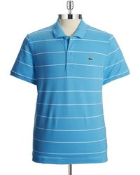Lacoste Striped Polo Shirt - Lyst