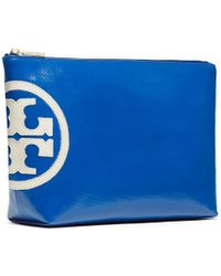 Tory Burch Beach Dipped Large Slouchy Cosmetic Case - Lyst